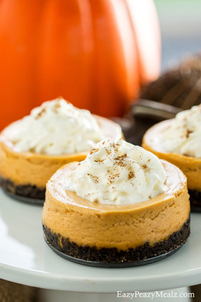 Pumpkin cookie cheesecake is richly delicious and light and airy. Yum!