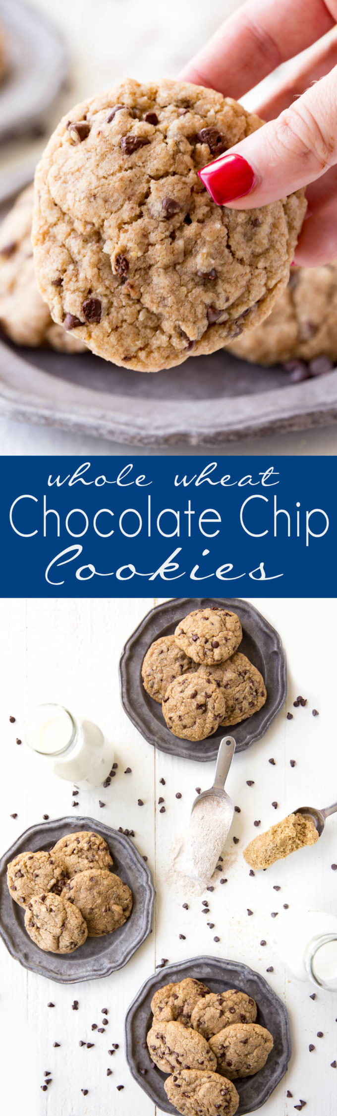 Whole Wheat Chocolate Chip Cookies - Eazy Peazy Mealz