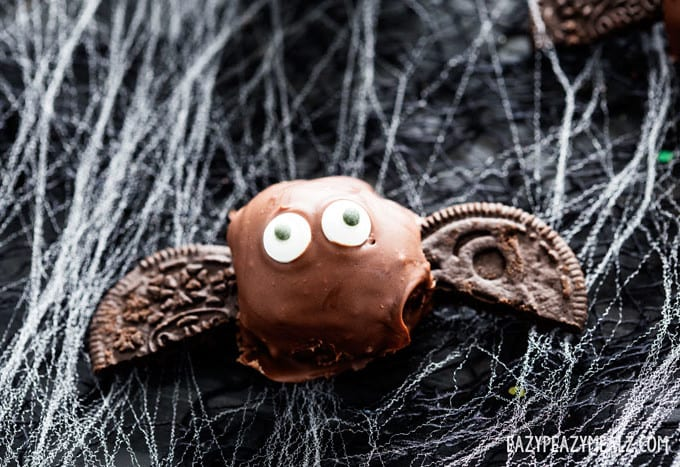 A bat OREO truffle for Halloween.