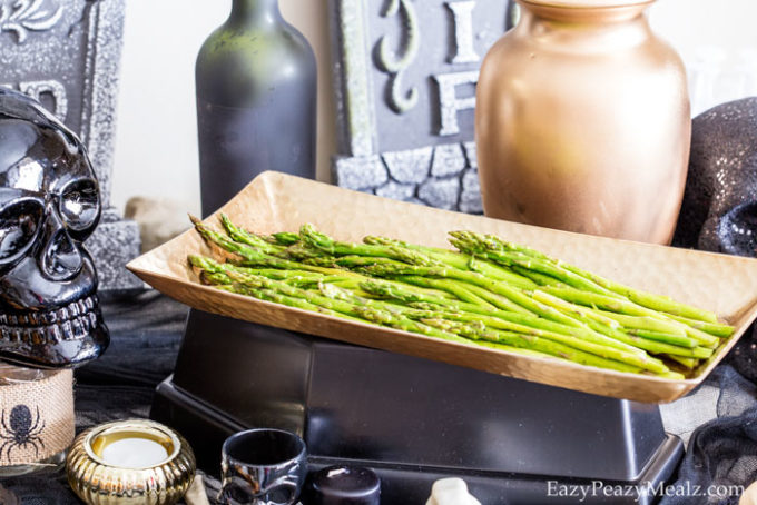 Browned butter asparagus is a great side dish.