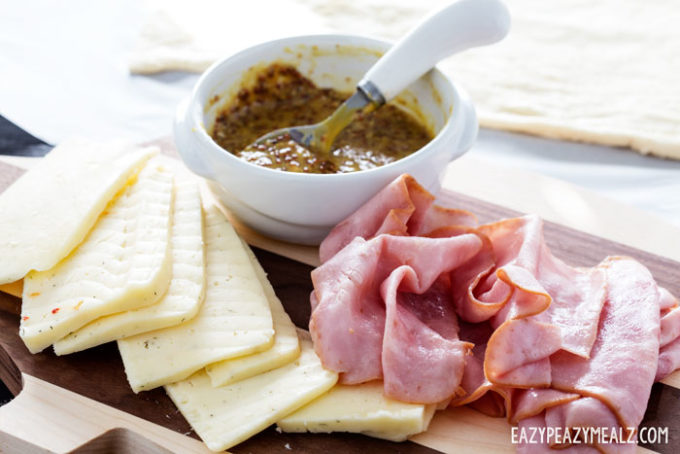 Mustard sauce pairs with havarti and ham really well
