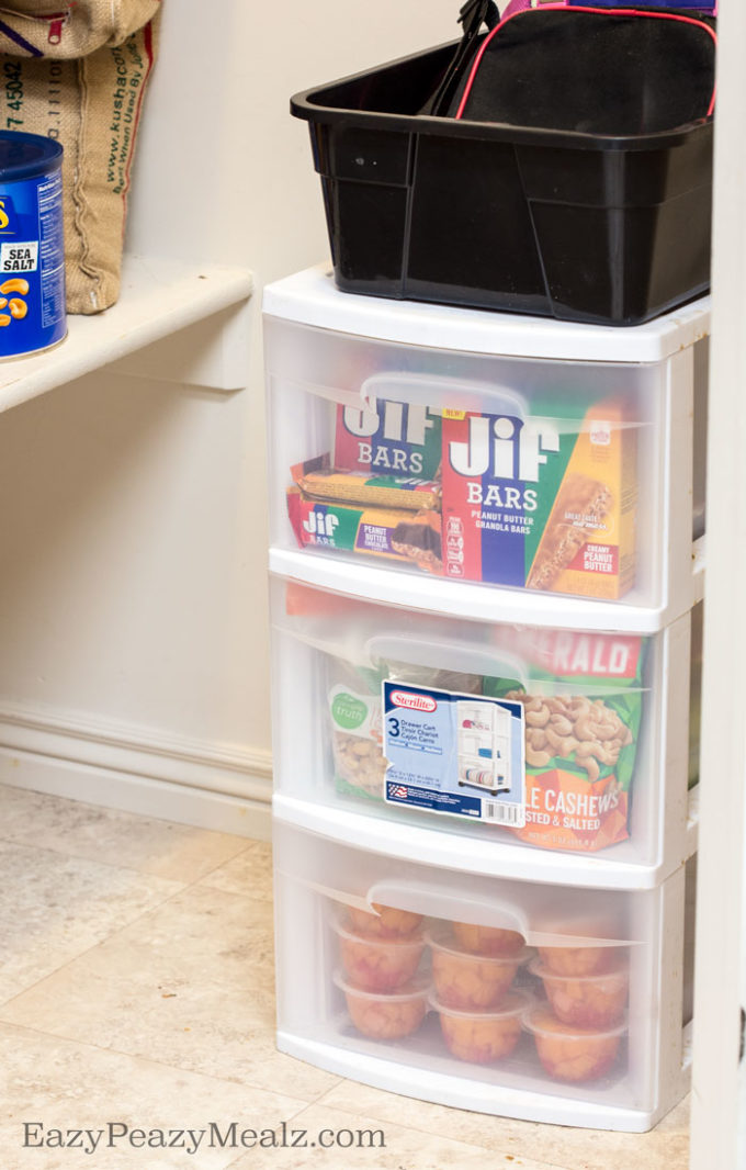 After school snack bins help cut through the after school snack dilemma for happy mom and kids