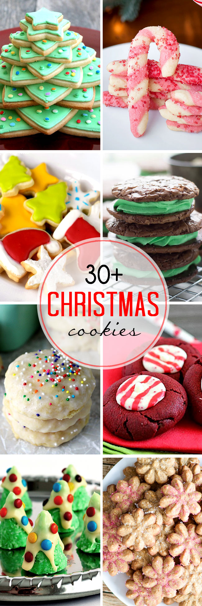 A huge collection of amazing Christmas cookies. These are perfect for celebrating the holidays.