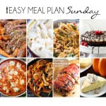 Easy Meal Plan Sunday! All the recipes you need for a delicious week.