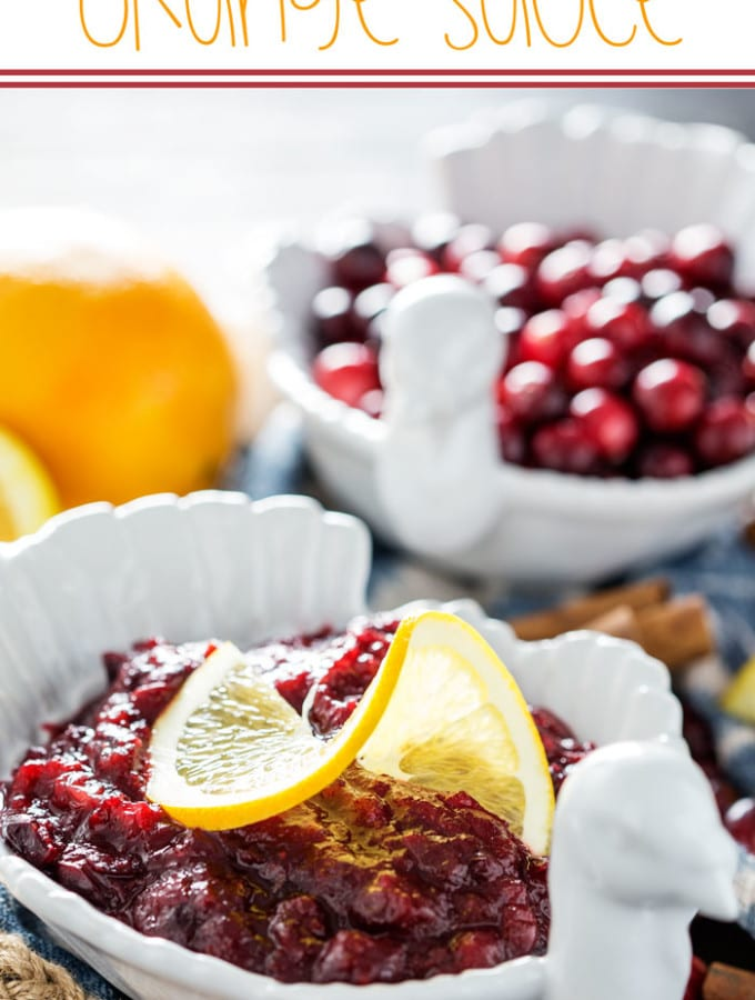 A homemade cranberry orange sauce perfect for Thanksgiving