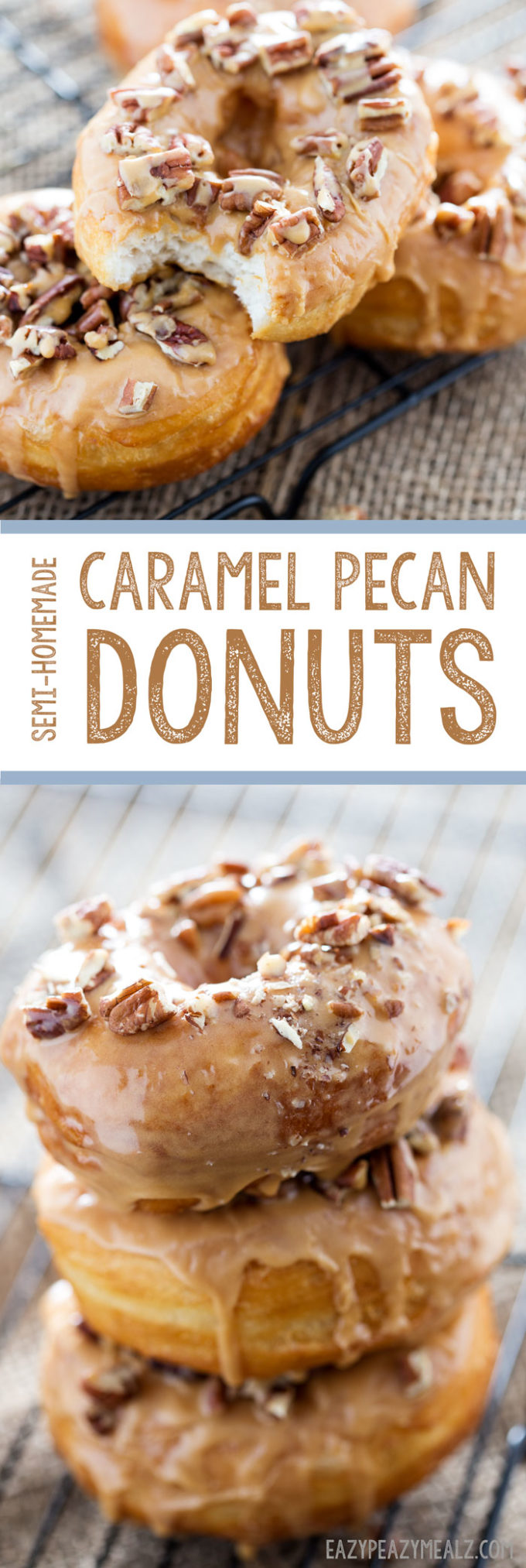 Semi-homemade donuts that are so easy to make, and taste awesome.