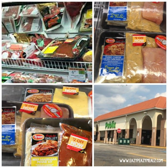 Publix tyson skillet kits, a 15 minute dinner, beef marinara pasta
