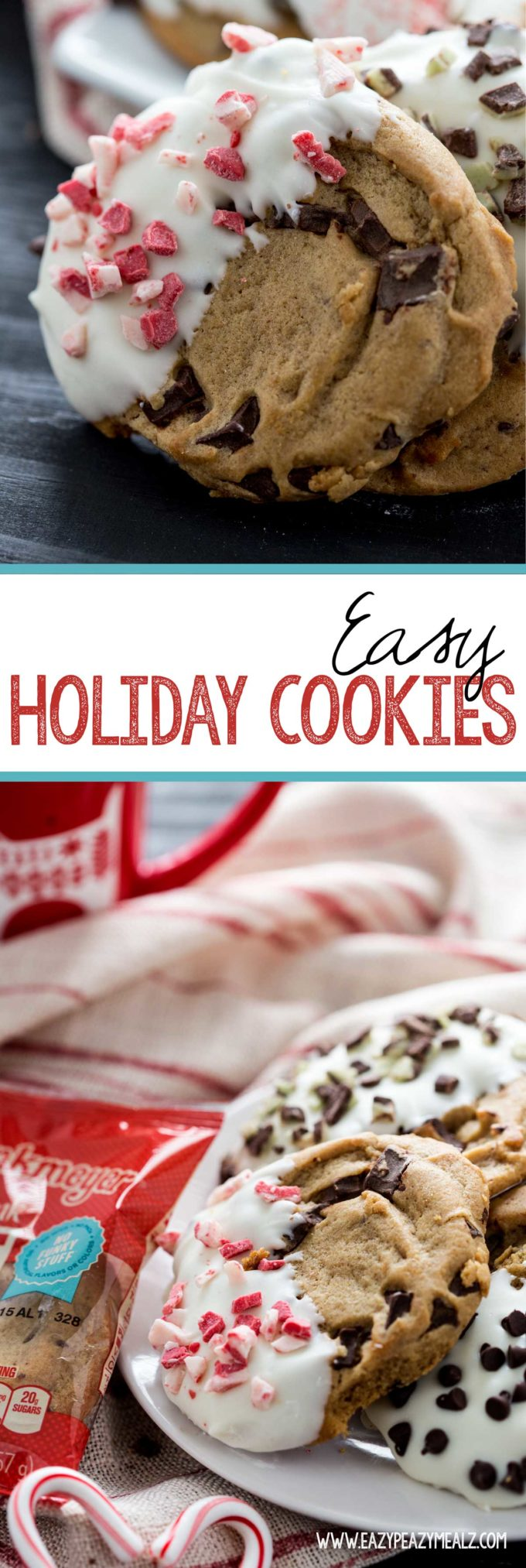 Easy Holiday Cookies take the hassle out of bringing great cookies to a party, easy holiday cookies, a simple dessert