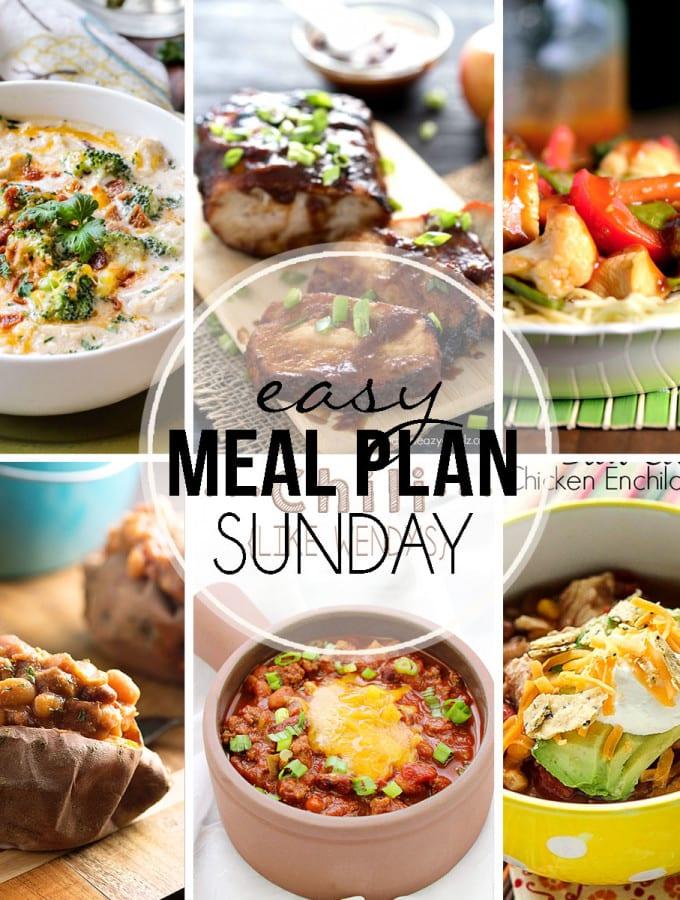 Easy Meal Plan Week 31