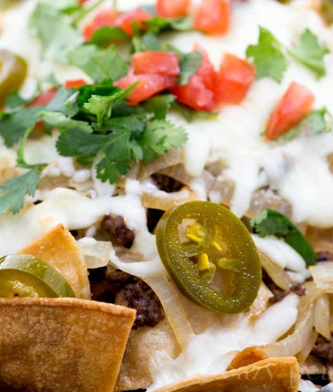 Beef and Caramelized Onion Nachos
