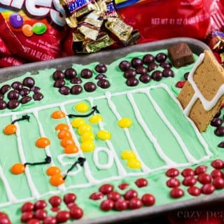 Football Stadium Sugar Cookie Bars