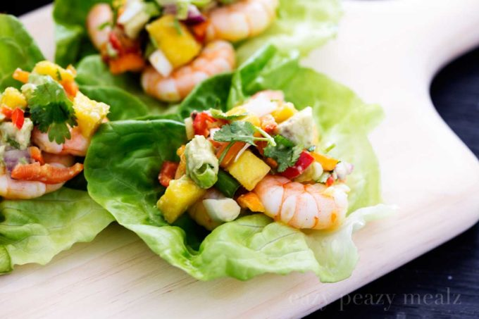 ... cups salad cups with quinoa shrimp avocado lemon dressing mini shrimp
