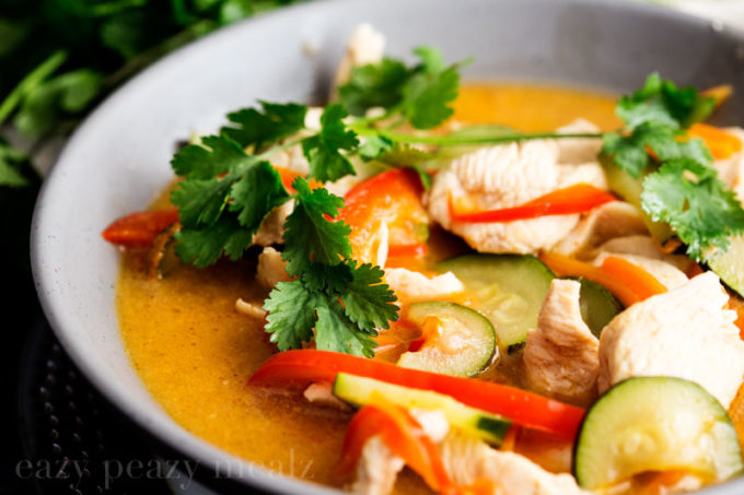 Asian curry chicken coconut milk ginger