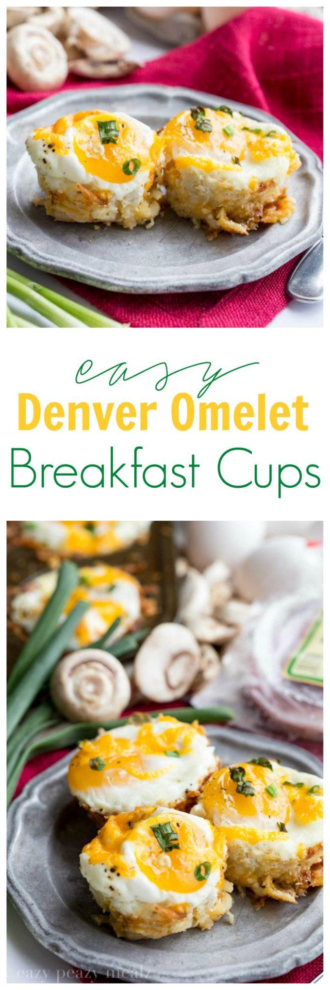 Easy Denver Omelet Breakfast Cups