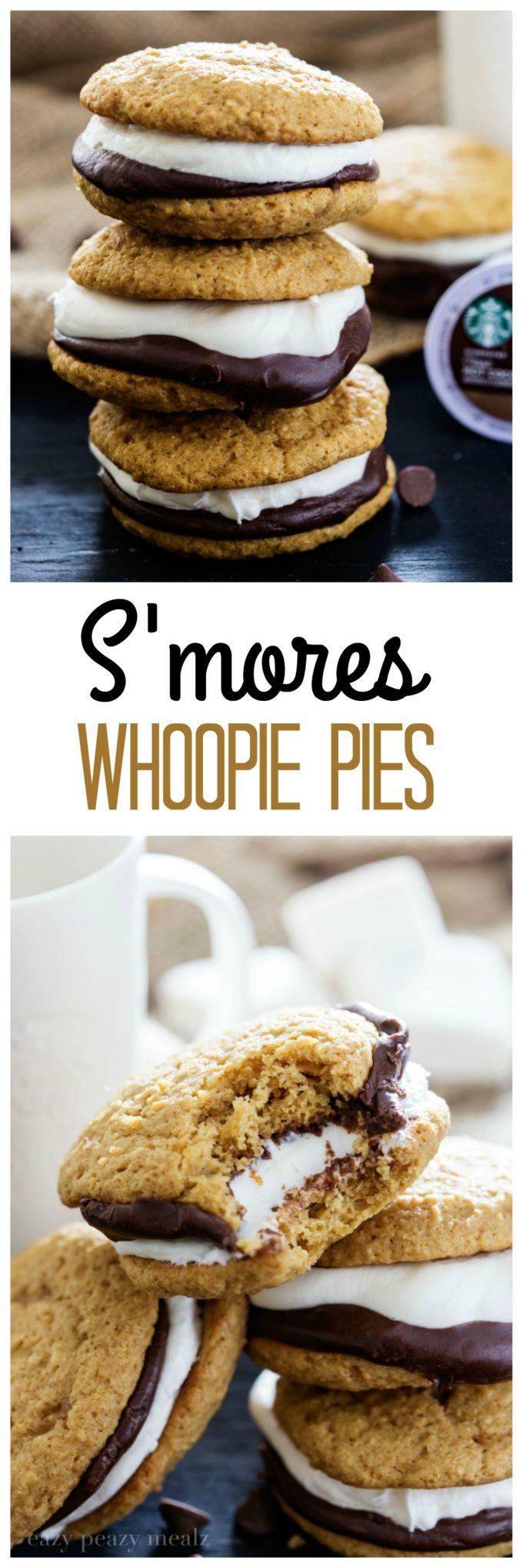 PIN Smores Whoopie Pies