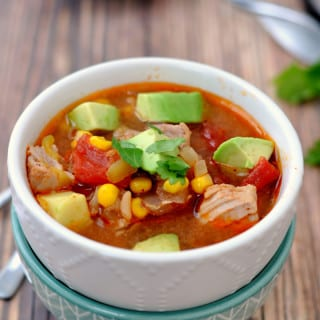 Easy Pork Enchilada Soup