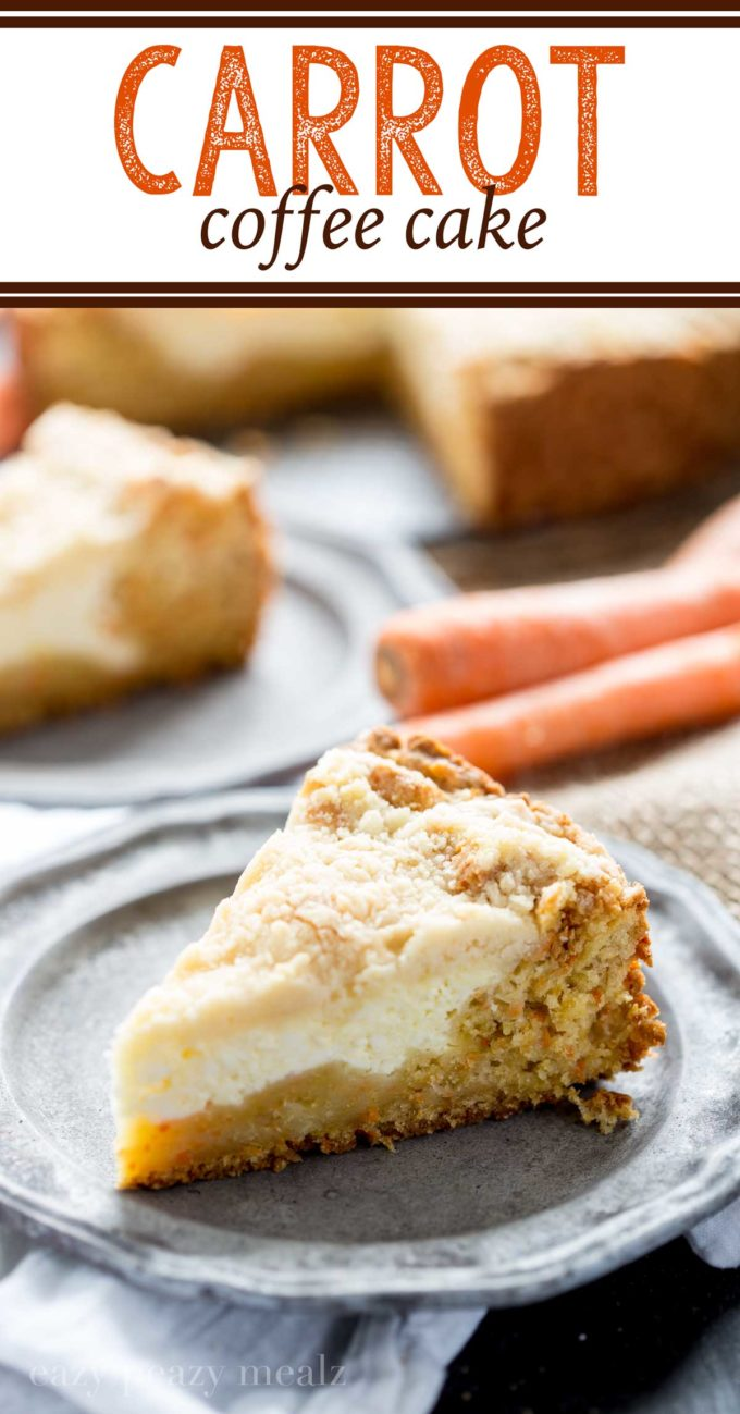 carrot coffee cake, eat it for breakfast or dessert