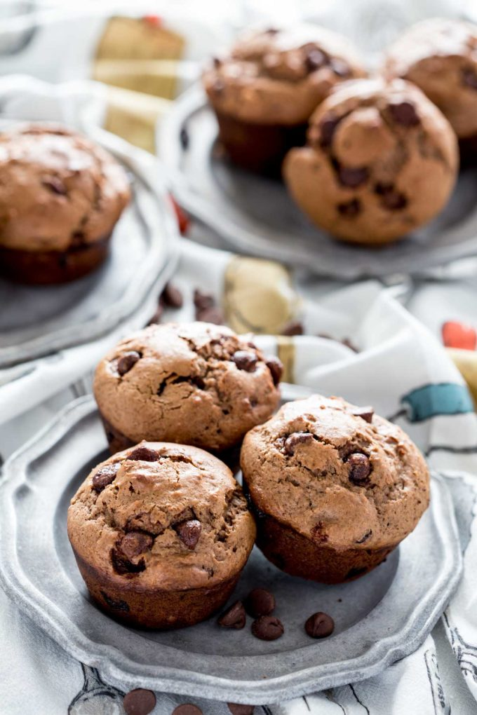 plate-of-chocolate-muffins
