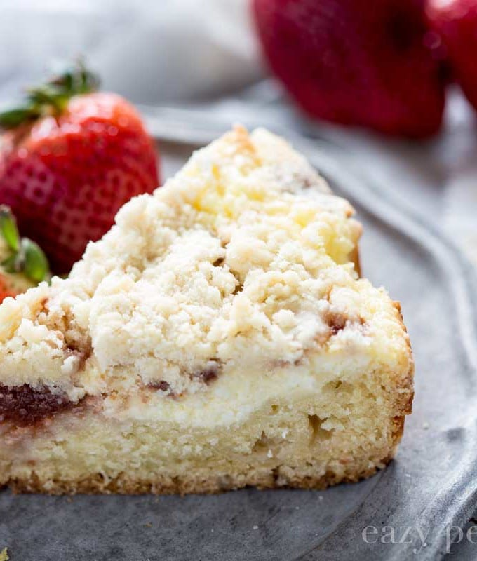 White Chocolate Strawberry Cream Cheese Coffee Cake
