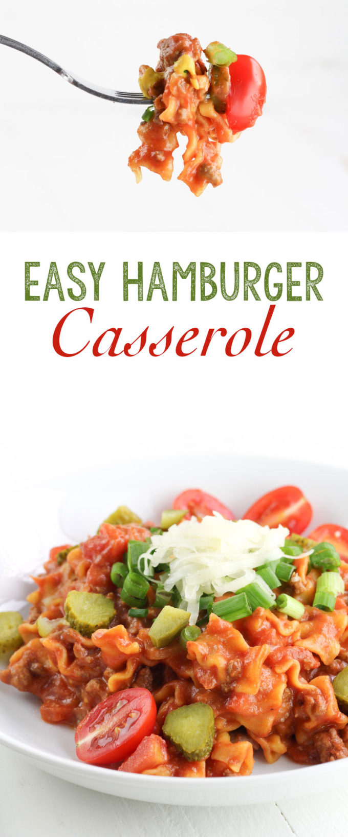 Easy Hamburger Casserole: The perfect midweek meal solution!