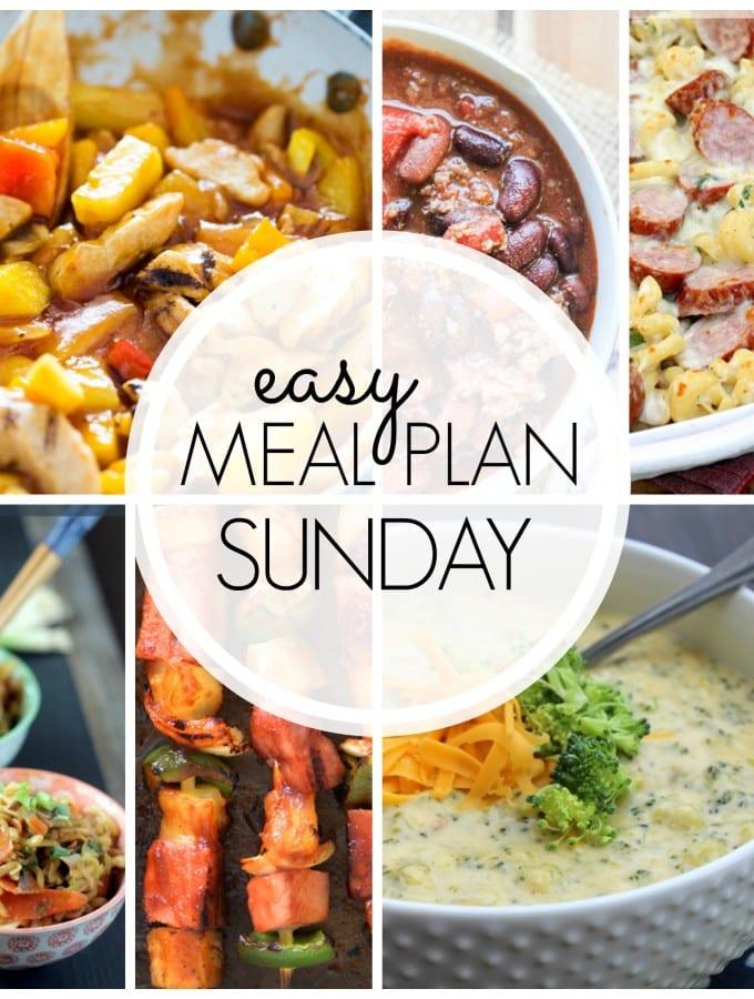Easy Meal Plan Week 45