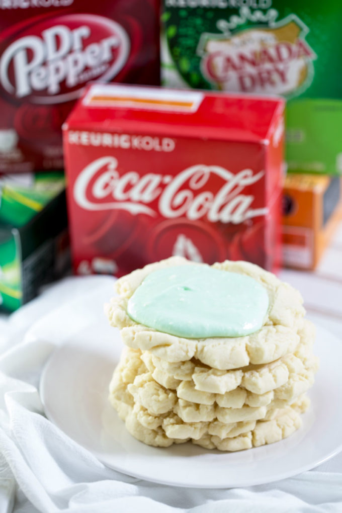 Flavors of Keurig KOLD pods and swig copy cat sugar cookies