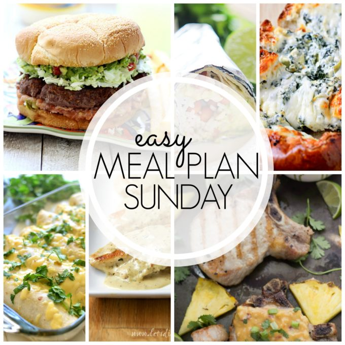 Meal Plan Sunday, do your menu planning for the whole week