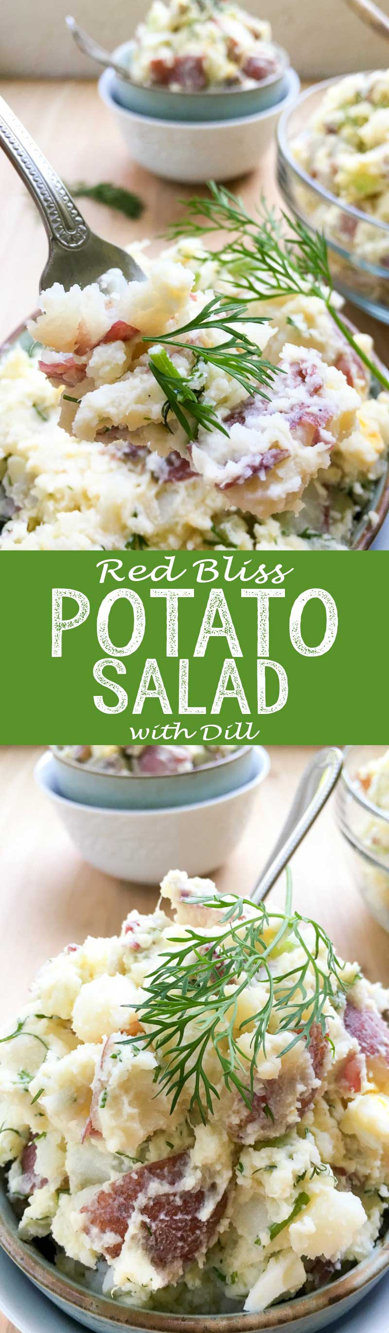 Red Potato Salad Recipe: Crisp celery, onion, Dijon mustard, eggs, and fresh dill gives it a satisfying crunch and flavor and enough to feed a hungry crowd.