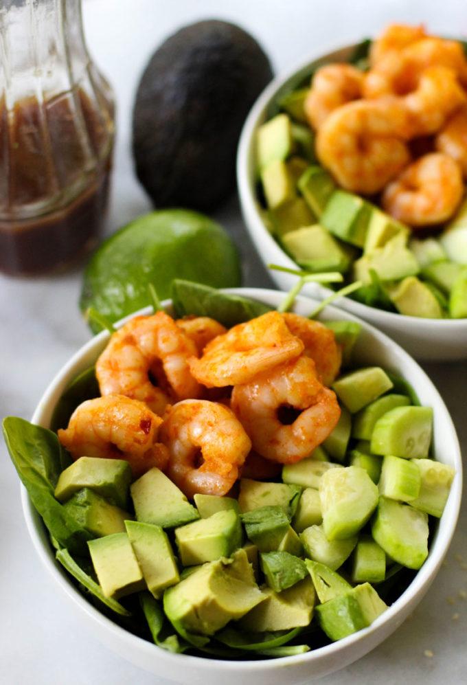 Spicy Shrimp Salad with Lime Sesame Dressing - Eazy Peazy ...