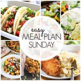 Easy Meal Plan Week 47