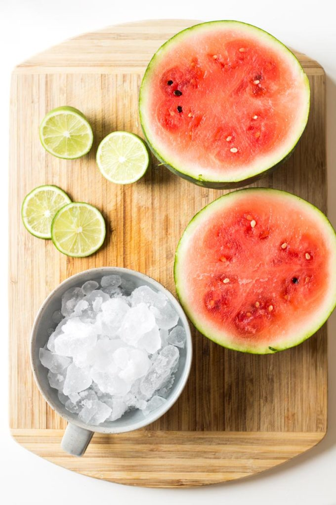 homemade healthy Watermelon Slush, a refreshing summer slush
