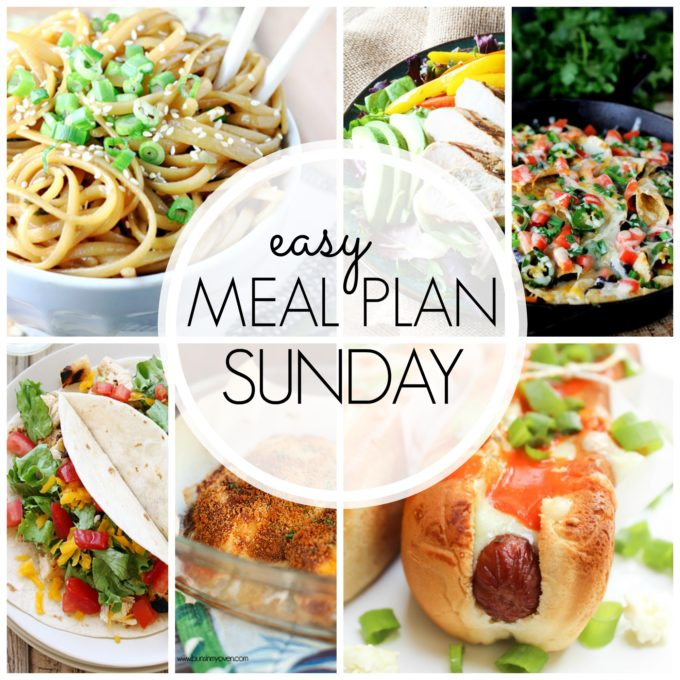 Easy meal plan sunday