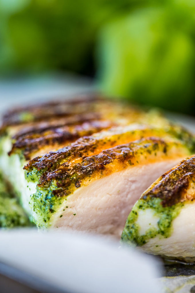 BBQ Basil Pesto Grilled Chicken - Pesto leaves, garlic, pine nuts and ...