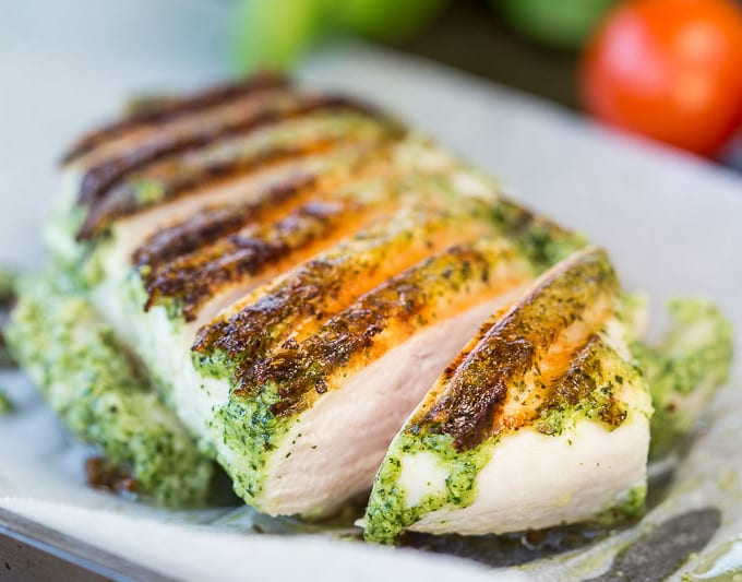 BBQ Basil Pesto Grilled Chicken