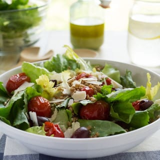 Make the most of your care-free summer afternoons with this crisp, refreshing Escarole, Roasted Tomato and Wheat Berry Salad.