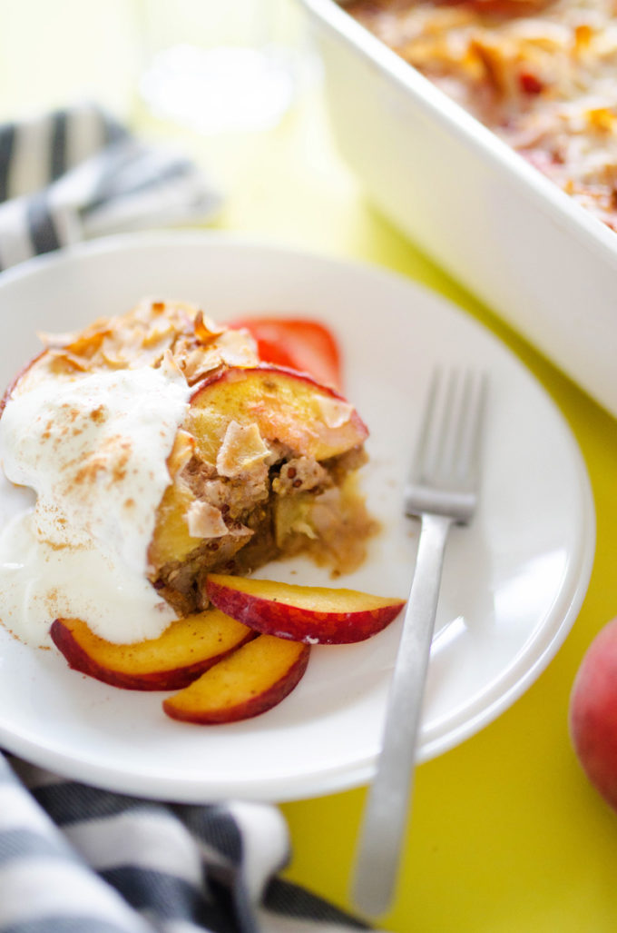 with whole grains and fresh fruit, this Summer Fruit Breakfast Bake ...