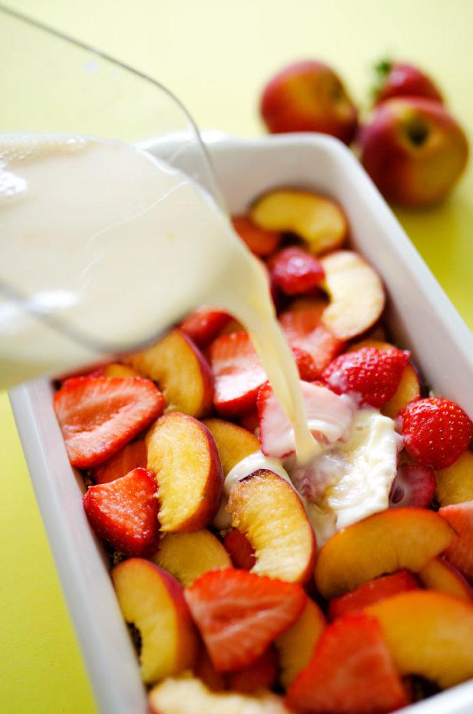 Summer Fruit Breakfast Bake - Easy Peasy Meals