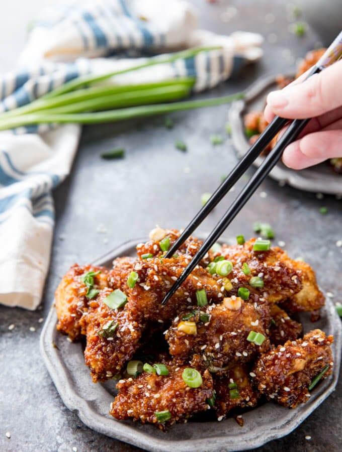 Sticky Chicken Bites