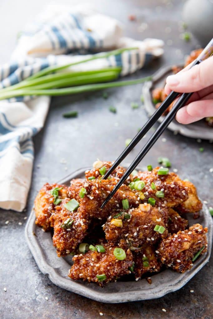 Sticky asian chicken bites