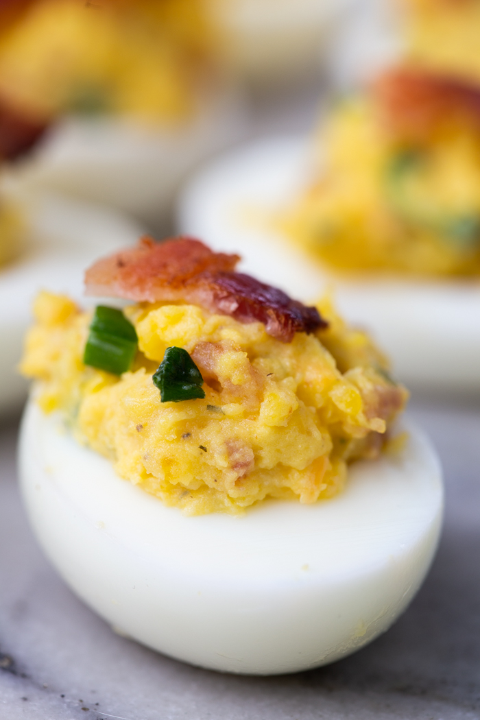 How to make bacon cheddar ranch deviled eggs for a keto diet