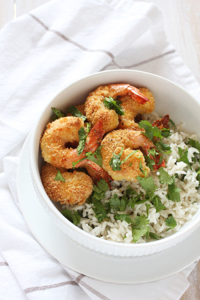 Baked coconut shrimp with cilantro lime rice easy peasy meals forumfinder Images