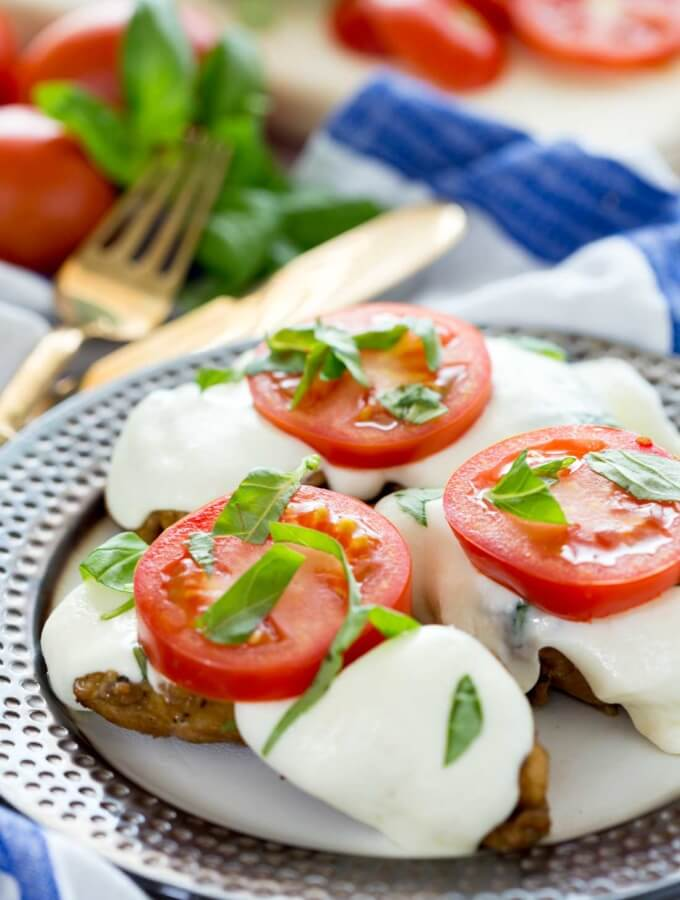 Balsamic Caprese Chicken (Grill or Stove Top)