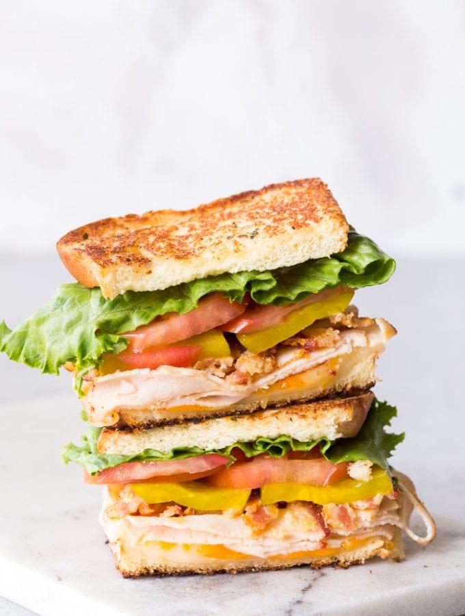 Easy Chicken Club Sandwich