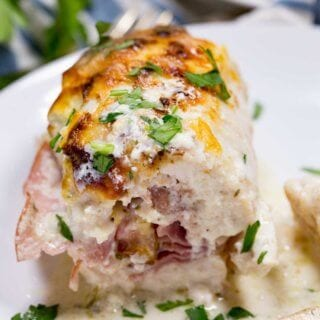 Chicken Cordon Bleu Roll up Bake