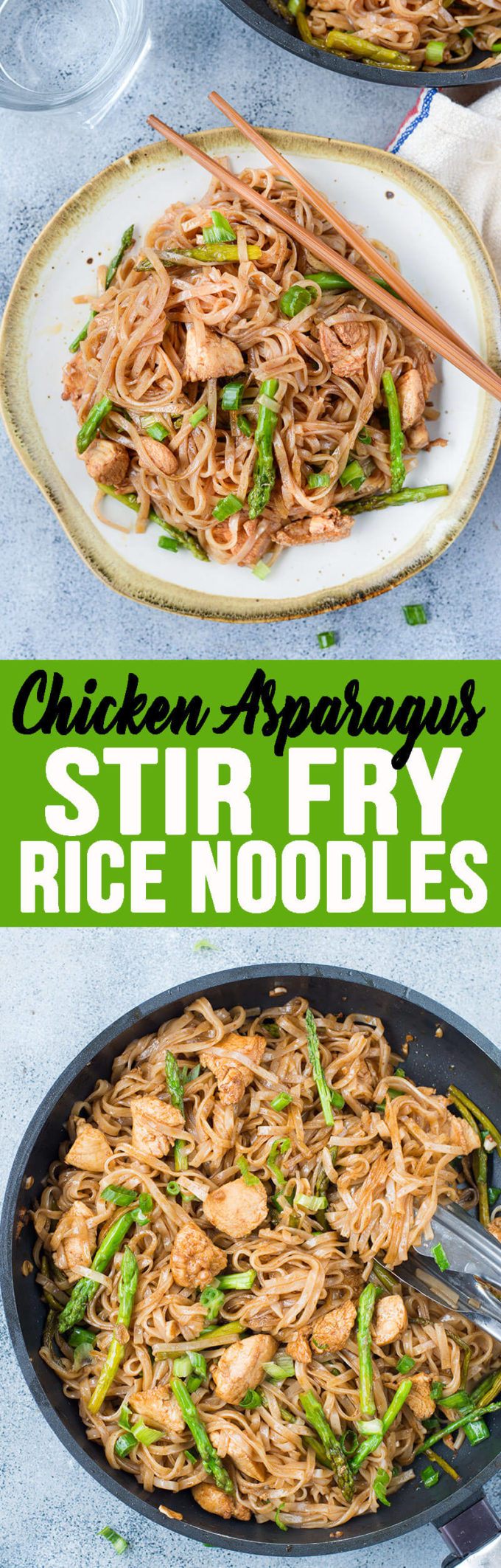 This Stir Fry Noodles is a quick stir fry recipe with bursting Asian flavors. All you will need is one pan and less than 30 minutes to make a delicious weeknight dinner. While Chicken and asparagus works as a wonderful combination, you add any vegetable of your choice.