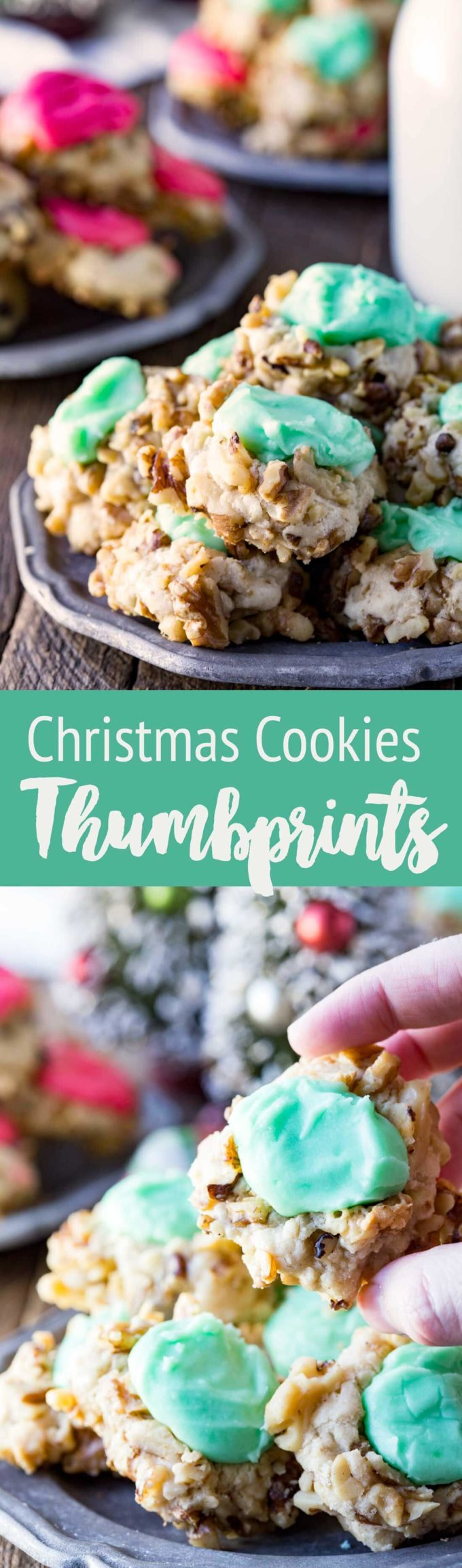 Christmas Cookies Thumbprint cookies are delicious, easy, and fun for holiday baking