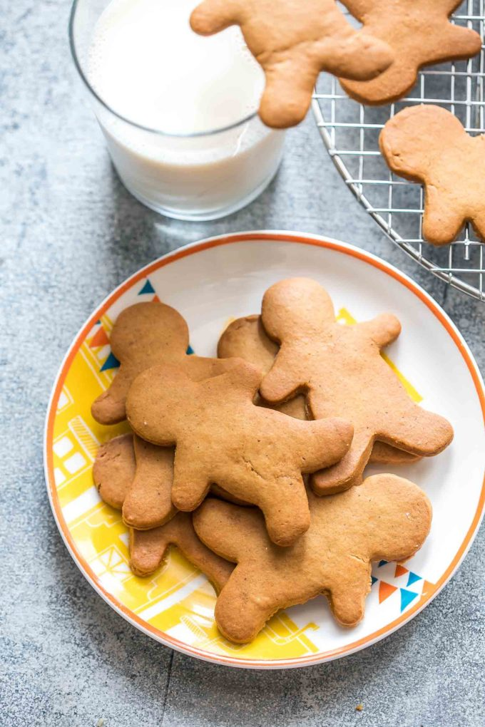 Gingerbread Cookies: deliciously soft, chewy, and perfect for house building. They have a rich flavor and a consistency that holds its shape while baking.