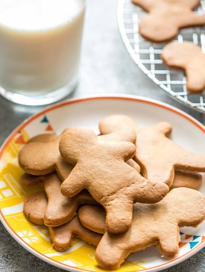 Gingerbread cookies are the ideal holiday cookie, soft and chewy, but firm enough to build a house with.