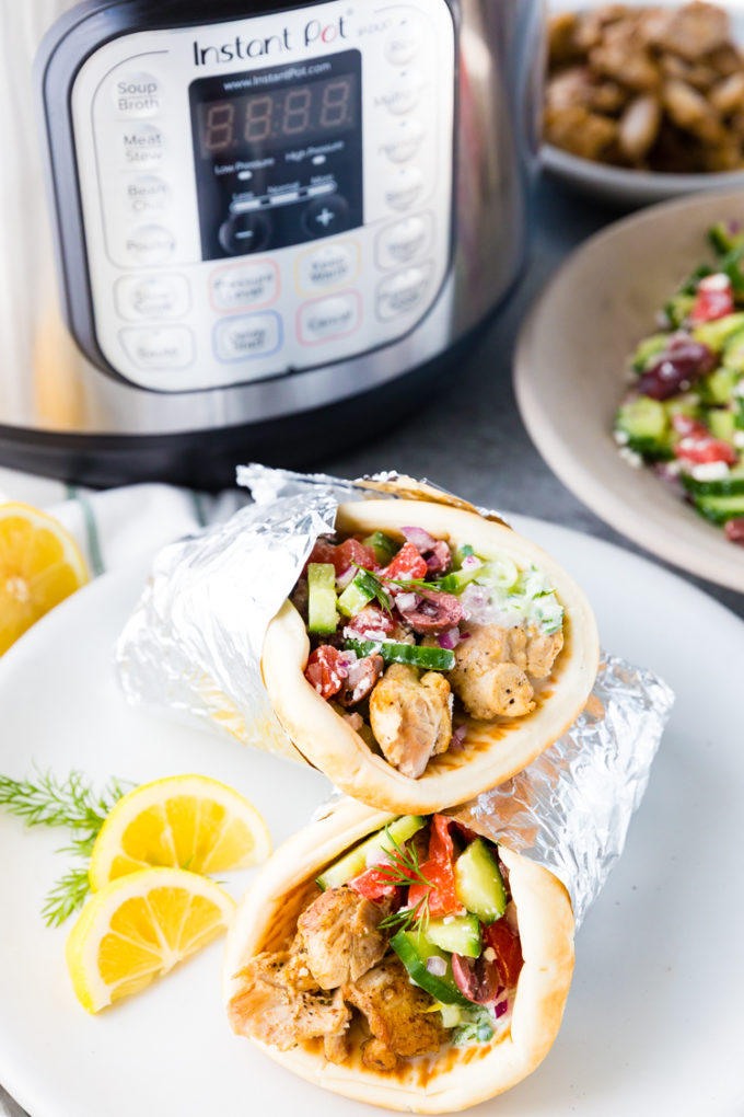 How to make this Greek Chicken in the Instant Pot, and turn it into Gyros