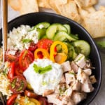 Amazing greek chicken orzo bowls